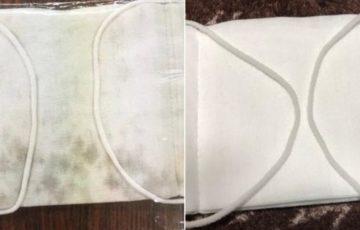 カビノマスク、自作自演のデマの可能性も・・・素材や縫い方が違う?
