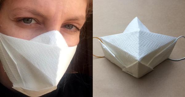 ペーパータオルで作るOrigami Mask(オリガミマスク)が素敵!
