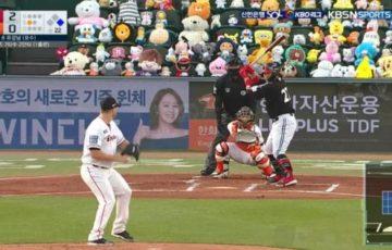 韓国のプロ野球で無観客試合を寂しくしない為のぬいぐるみが日に日に増えてて面白い