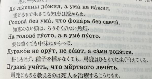 ロシアのことわざ「耕しもせず、種を播かなくても、馬鹿はひとりでに生えてくる」