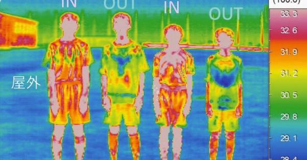シャツインとシャツアウト、サーモグラフィーで4℃も差があると判明!シャツインは熱中症の原因に!