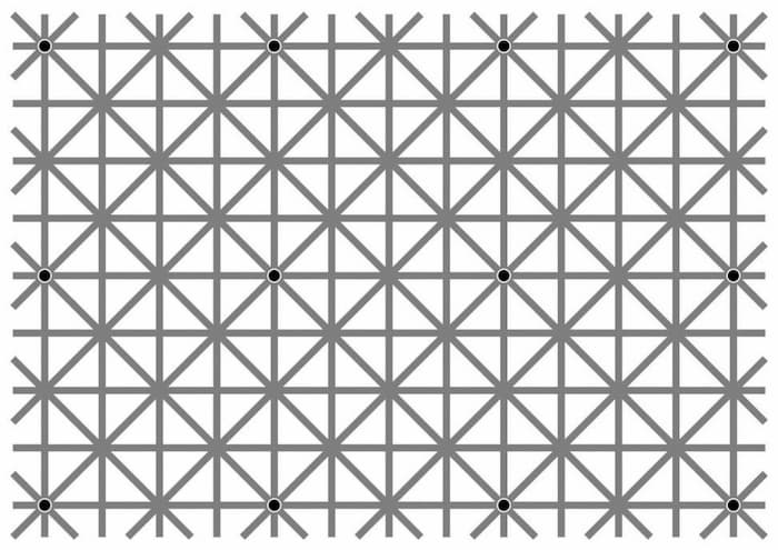 12箇所の黒い点を同時に認識できたら天才!あなたはいくつ認識できた?