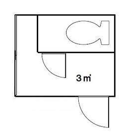 伝説のクソ物件(事故物件)が盛り上がり中!:トイレが半分くらい占有する部屋