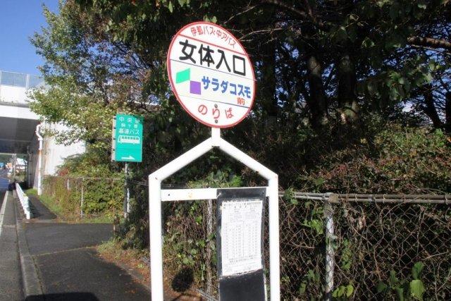 日本各地の面白くてユニークなバス停の名前:長野県駒ヶ根市の女体入り口