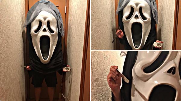 「地味ハロウィン2020」が今年もシュールでカオスで面白い!:ネットで買ったマスクがイメージしたサイズと違った人