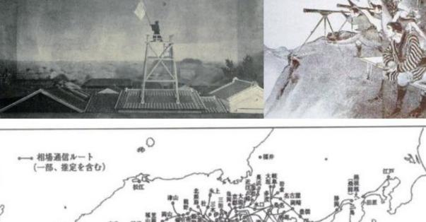 江戸時代に、堂島の米相場の情報を「旗振り通信」で別の都市まで伝えてた