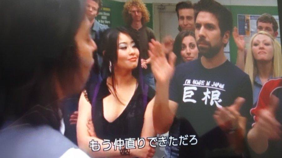 海外ドラマで変な日本語Tシャツが堂々と放映されてしまう