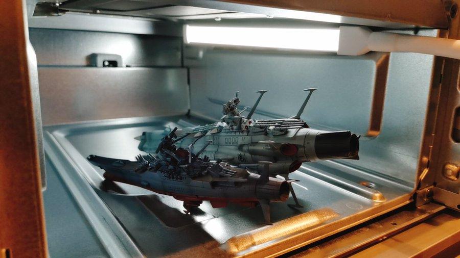 魚焼きグリルで模型(プラモデル)の写真を撮るとかっこいい
