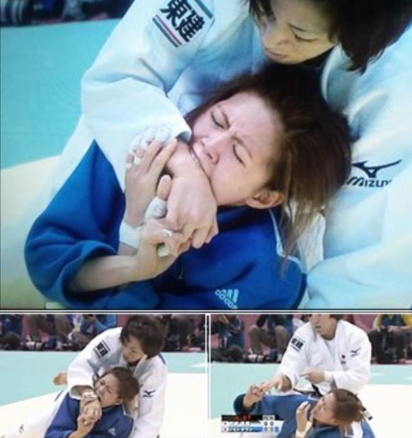 韓国女さん、柔道の新技「かみつき」を披露してしまう・・・