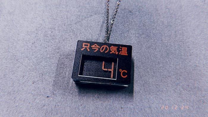 4℃のネックレス作りました