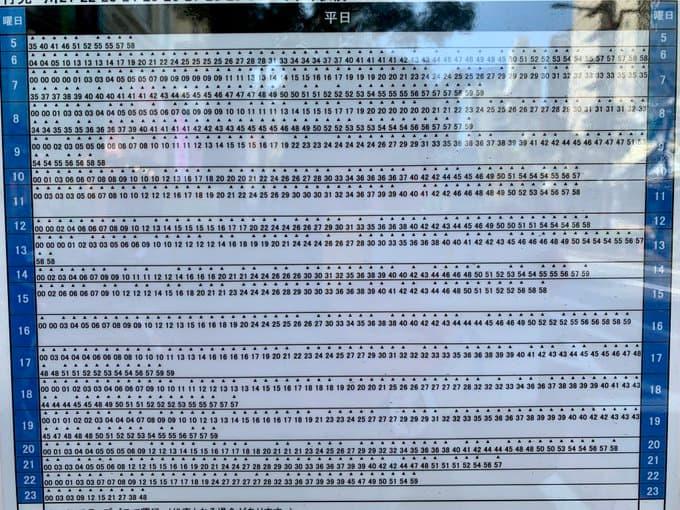 「たくさんあります!」都営新宿線船堀駅時刻表がざっくりすぎるwww