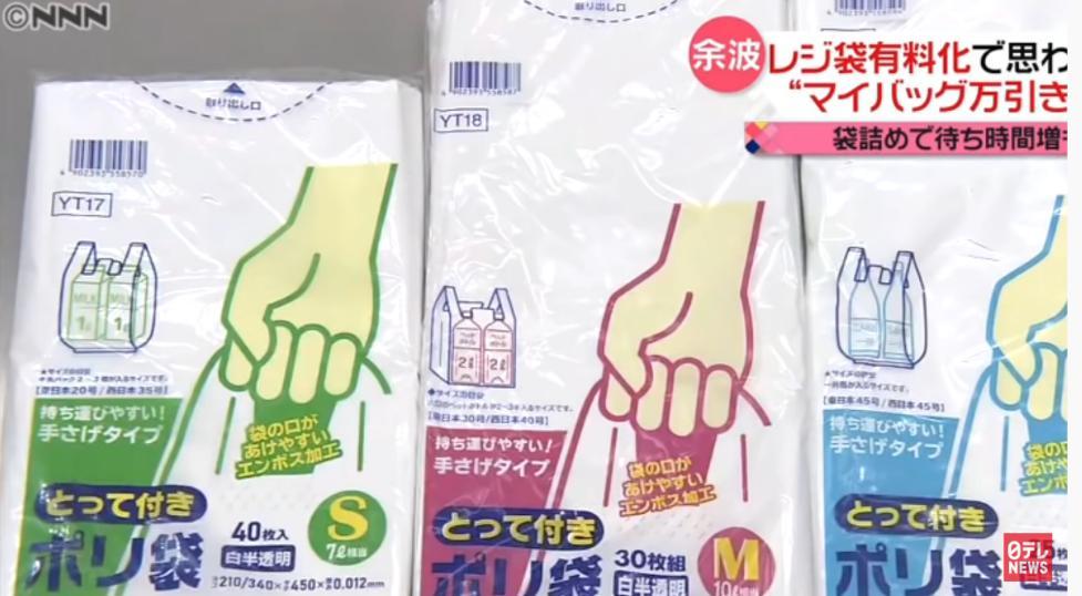 ビニールゴミを減らすためのレジ袋有料化のせいでポリ袋の売上が3倍になり、万引も増加・・・