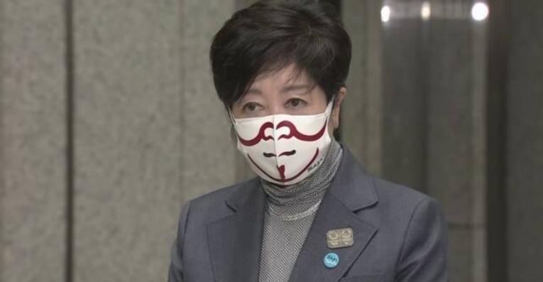 小池都知事の歌舞伎柄マスクで、会見内容がまったく頭に入ってこない件www