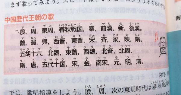 アルプス一万尺にあわせて覚える中国歴代王朝の歌が無理ありすぎるwww