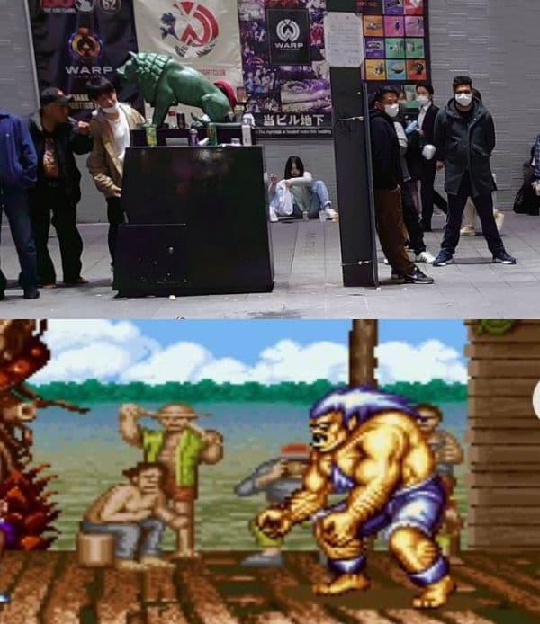 【野生の力士が相撲!?】新宿の旧コマ劇前いい感じに治安狂ってる