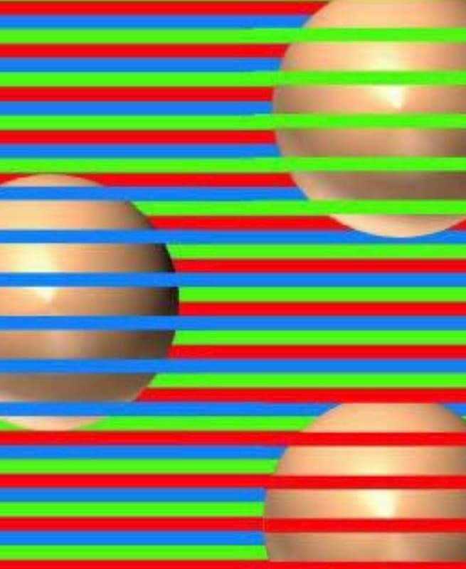 【錯視】ここにある球体は全部同じ色です、ズームするとわかります。