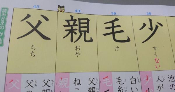 【父親毛少】子どもの漢字練習帳なんだけど・・・漢字の並びに悪意を感じる。