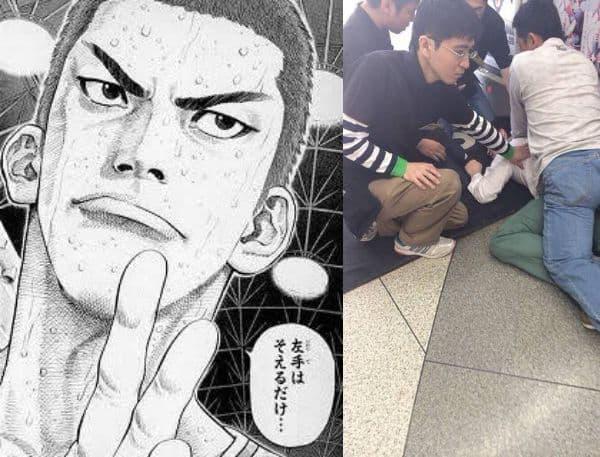 大阪難波でローソン店員が入れ墨の輩を取り押さえるも「リアルつよし」だと話題に!